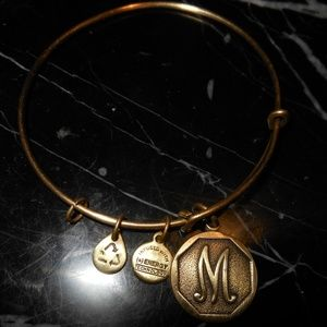 Alex And Ani Letter M Charm Retired Gold Russian B